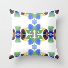 Sea Glass 11 Throw Pillow