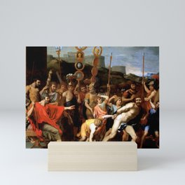 Nicolas Poussin - Camille Delivers the Schoolmaster of Falerii to His Pupils Mini Art Print