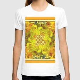 VIGNETTE OF YELLOW SPRING DAFFODILS GARDEN T-shirt