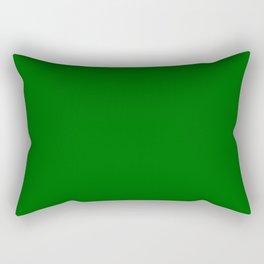 Dark Green Rectangular Pillow