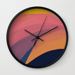 Colorful Mountain Scape Wall Clock