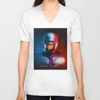 cyclops V-neck T-shirts featuring CYCLOPS by John Aslarona