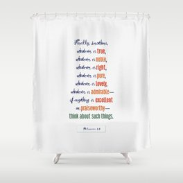 Think About Such Things . . . Shower Curtain