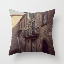 Italian classic town view Throw Pillow