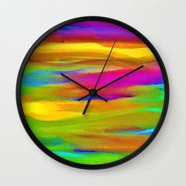 Peacock Mermaid Madness Wall Clock