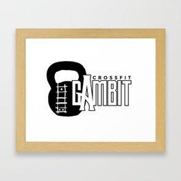 CFG Kettle bell logo Framed Art Print