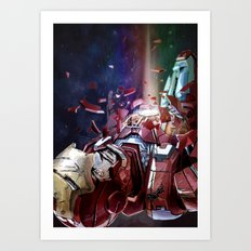 Iron Man Falls Art Print