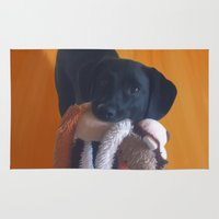 nemo Area & Throw Rugs featuring Nemo the Dog by Allyson Rico