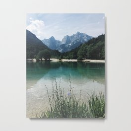Panoramic view of lake and Majestic Mountain Metal Print