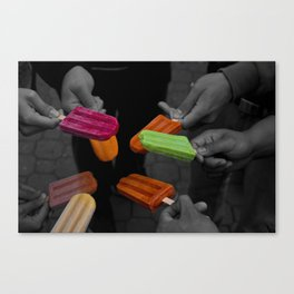 Popsicles Canvas Print