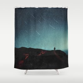 night of falling stars Shower Curtain