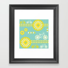 Saturday Bike Ride Framed Art Print