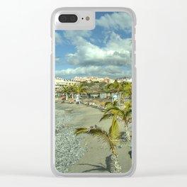 Volcanic Beach Seascape Clear iPhone Case