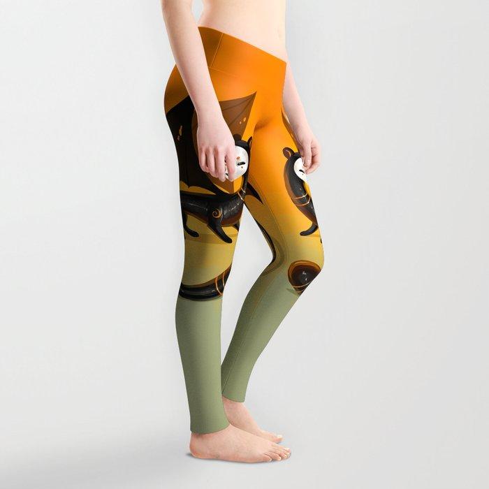 Black Stoat Leggings