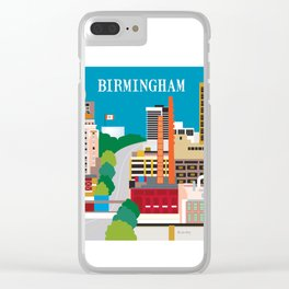 Birmingham, Alabama - Skyline Illustration by Loose Petals Clear iPhone Case