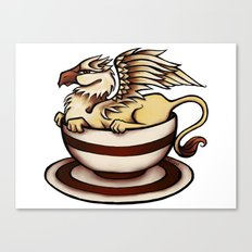Griffin in a Tea Cup Canvas Print