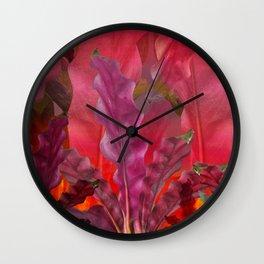 """Pink Scifi Tropical Jungle"" Wall Clock"
