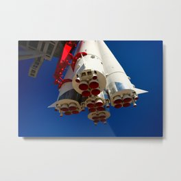 Vintage Spacecraft Engines Metal Print