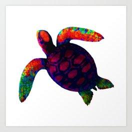 Turtle Magenta jGibney The MUSEUM Society6 Art Print