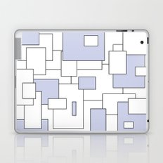 Squares - blue and white. Laptop & iPad Skin