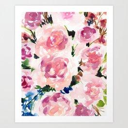Pastel Pinks Art Print