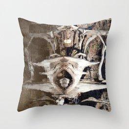 Watercolor Anthropomorphism 34, screamin demon Throw Pillow