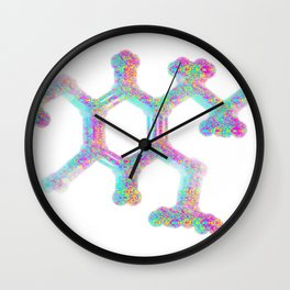 2cb molecule Wall Clock