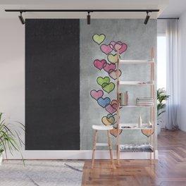 Periscope Hearts Wall Mural