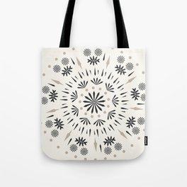 Snowflakes Scandic Nordic Tote Bag