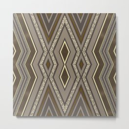 Geometric Rustic Glamour Metal Print