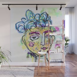 She is imperfect, but she tries Wall Mural