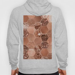 Rose gold hexaglam blonde Hoody