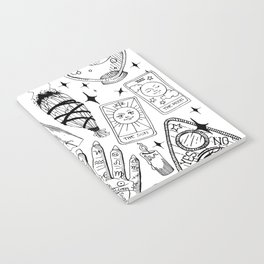 Fortune Teller Starter Pack Black and White Notebook