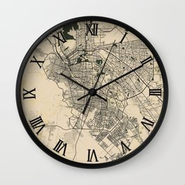 Ciudad Juárez City Map of Mexico - Vintage Wall Clock