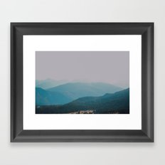 hazy rockies .  Framed Art Print