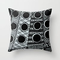 dalek Throw Pillows featuring Dalek by Rebecca Bear