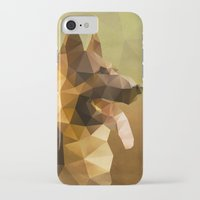 german shepherd iPhone & iPod Cases featuring The German Shepherd by Ed Burczyk