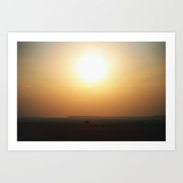 Sunsets in Africa Art Print