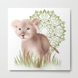 Little Lion Metal Print