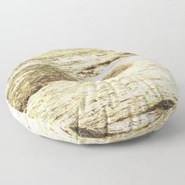 Oak Island, Surf in Gold Floor Pillow