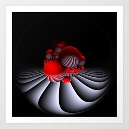circular images on black -15- Art Print