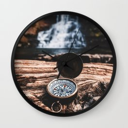 May Your Compass Be True Wall Clock