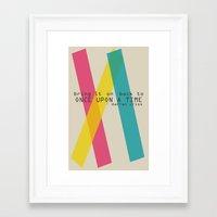darren criss Framed Art Prints featuring Once Upon A Time - Darren Criss (Listen Up Tour) by Nephie