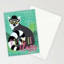 Lemur Keep it Classy Stationery Cards