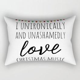 I love christmas music Rectangular Pillow