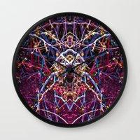 baphomet Wall Clocks featuring Baphomet 4 by Kevin Kolstad