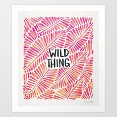 Wild Thing – Pink Ombré & Black Palette Art Print