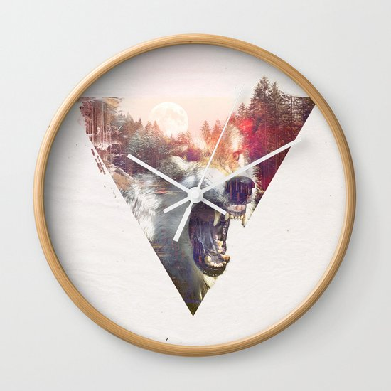 daylight moon Wall Clock