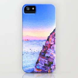 Twilight Over Positano, Italy iPhone Case