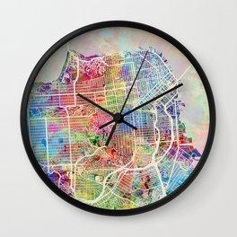 San Francisco City Street Map Wall Clock